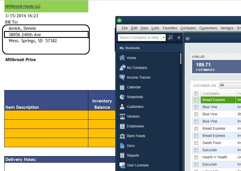 Excel Quickbooks Sync Tool